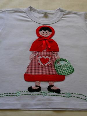 Camiseta Infantil -chapéuzinho Vermelho2