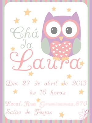 Convite chá Corujinha - digital