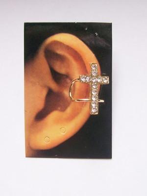 Ear Cuff Cross Strass