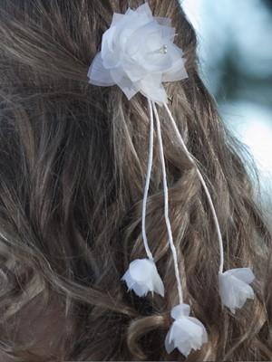 Grinalda noiva cravos em Botão