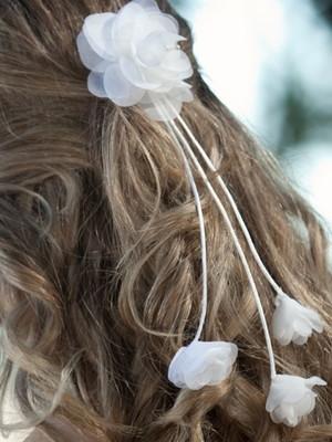 Grinalda de noiva rosas em Botão