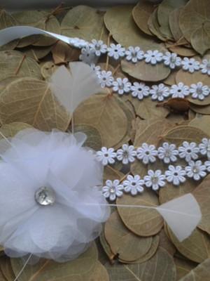 Tiara flores de cristal
