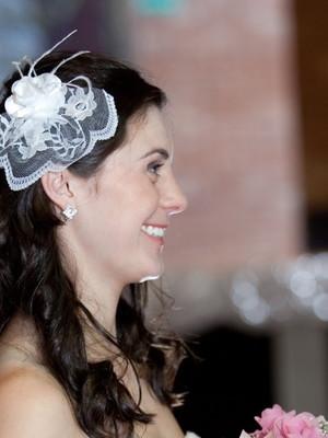 Grinalda Casquete de renda casamento