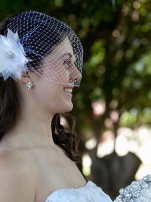 Grinalda Voilette Cravo casamento