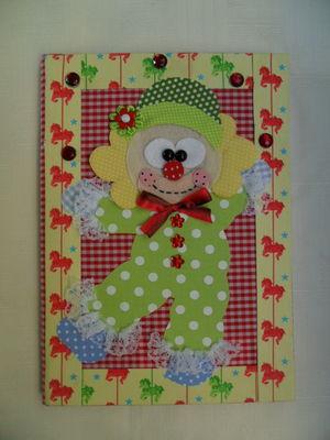 Caderno decorado - Palhacinho