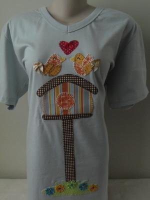 Camiseta -casa de passarinhos