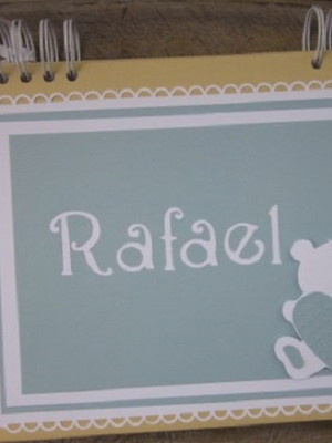 caderno personalizado mensagens chá bebê menino ursinho