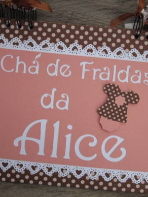 caderno mensagens bebê menina scrapbook rosa marrom