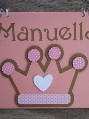 scrapbook mensagens fotos menina princesa maternidade