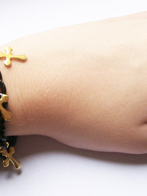 Pulseira Dark Cross