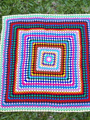 Colcha Granny Square Multi Color