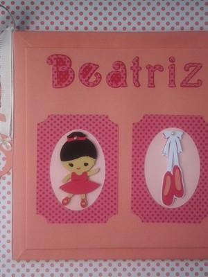 Livro Do Bebê menina scrapbook Bailarina rosa