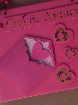 caderno personalizado mensagens e fotos pink e animal print
