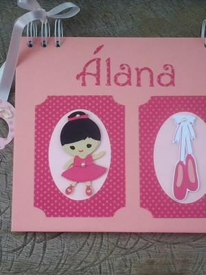 caderno álbum bebê menina bailarina chá e maternidade