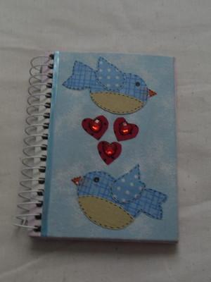 Cadernetas Decoradas- Tecido 3
