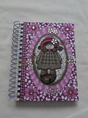 Cadernetas Decoradas- Tecido 4