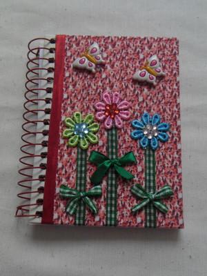 Cadernetas Decoradas- Tecido 5
