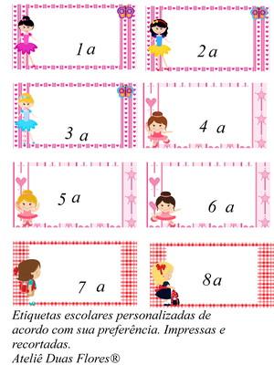 Kit Etiquetas escolares recortadas