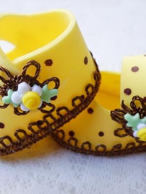 Sapatinho amarelo de poá