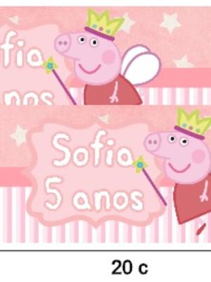 Rótulo papinha Peppa Pig