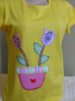 Camiseta Baby Look - Vaso De Flores 2