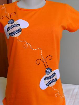 Camiseta Baby Look - Abelhas