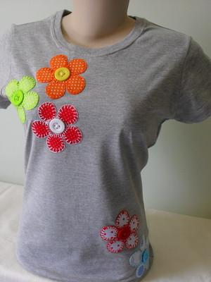 Camiseta Baby Look - Floral 4
