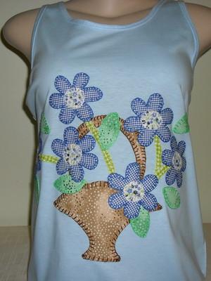Camiseta Regata Cesta de flores