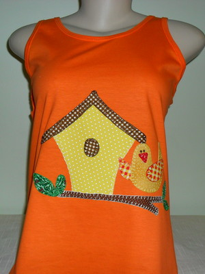 Camiseta Regata Casinha de passarinho