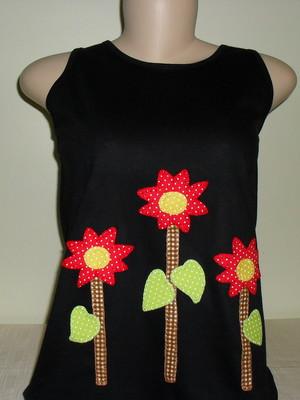 Camiseta Regata Floral 3