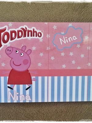 Rótulo Toddynho Peppa Pig
