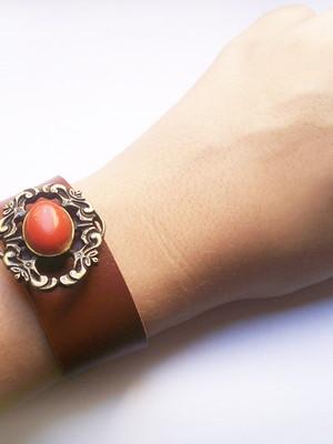 Bracelete Couro Vintage Frame
