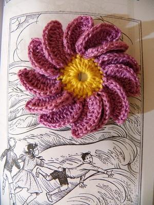 Flor 1000 Pétalas em crochet