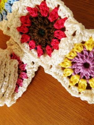 Cinto de Squares em crochet