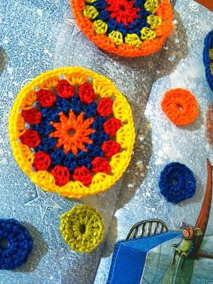 Círculos em crochet