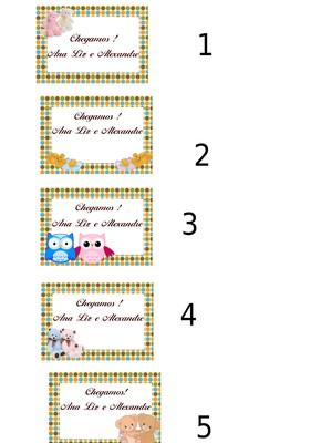 Kit com 30 etiquetas personalizadas 5x3