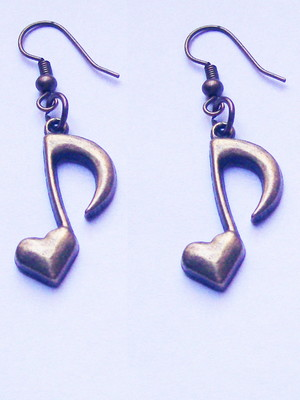 Brinco Notas Musicais Coração