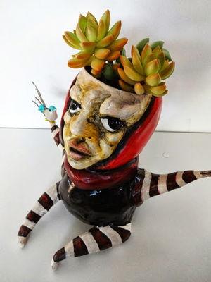 Cachepô Escultura Humanóide