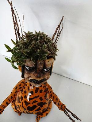 Cachepô Escultura Humóide - Girafa