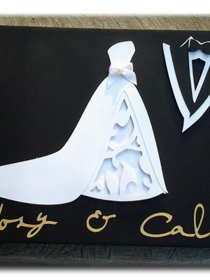 caderno presença mensagens fotos noivos casamento scrapbook