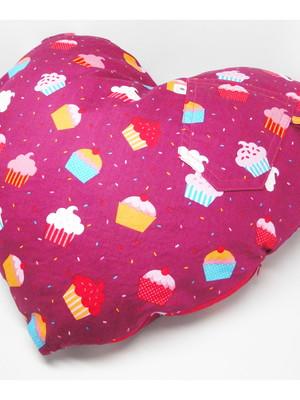 Almofada coração com bolso * escolher tecidos *