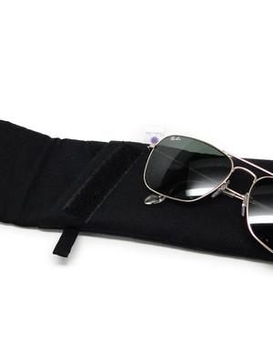 porta óculos com fecho aderente cor PRETO *
