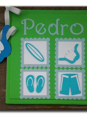 Diário Do Bebê personalizado para menino Surfista
