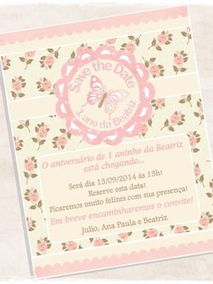 Save the date Aniversário
