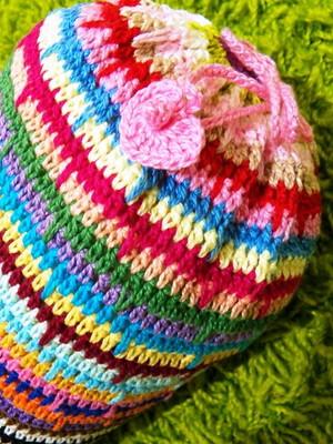 Almofada Tubo em crochet