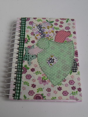 Caderneta decorada :Anjo Sunbonnet