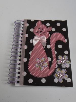 Caderneta decorada : Gatinha