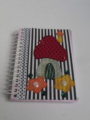Caderneta decorada : Cogumelo