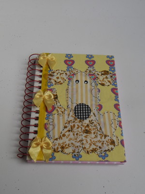 Caderneta decorada : Cãozinho