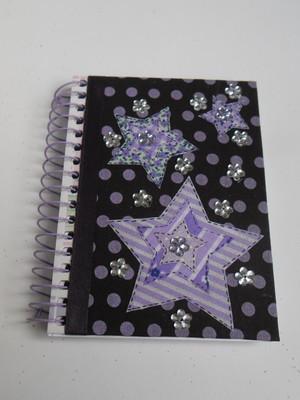 Caderneta decorada : Estrelas